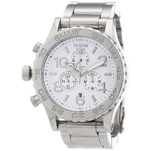 Nixon Men 's Quartz Watch The 42 – 20 Chrono High Polish a037945 – 00 withメタルストラップ