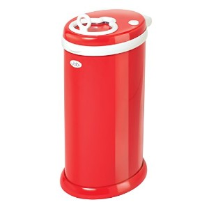 Ubbi Diaper Pail/Nappy Bin (Red) by Ubbi