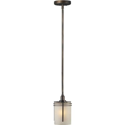 Forte Lighting 2389-01-32 Pendant with Umber Linen Glass Shades, Antique Bronze by Forte Lighting
