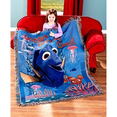 Kids Finding Dory Tapestry Throw Blanket with Nemo
