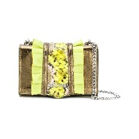 Just Cavalli snake effect shoulder bag - メタリック