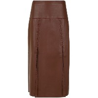 Nk leather midi skirt - ブラウン
