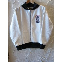 ★送料無料★RATS ラッツ /ZIP UP SWEAT WHITExBLACK