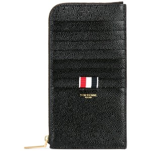 Thom Browne logo patched long wallet - ブラック