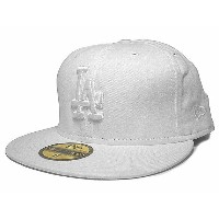NEW ERA LOS ANGELS DODGERS 【WHITEOUT】ニューエラ ロサンゼルス ドジャース 59FIFTY FITTED CAP フィッテッド キャップ [ 帽子 ヘッドギア...