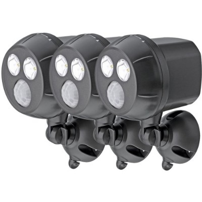 (3-Pack, Brown) - Mr Beams MB393 300-Lumen Weatherproof Wireless Battery Powered LED Ultra Bright...