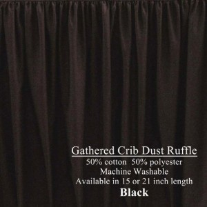 Long Cribskirt Gathered Dust Ruffle for Crib 21 inches long Color: Black by AB Lifestyles
