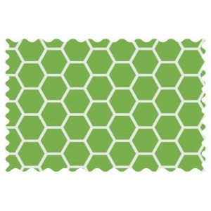 SheetWorld Citrus Honeycomb Fabric - By The Yard by sheetworld