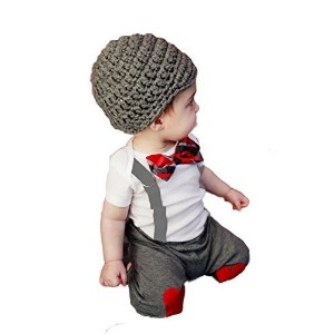 Red & Gray 3D Bowtie Baby Boy T-shirt & Heart Design Pants 2-pc (120/3-4 Years) by StylesILove ...