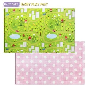 Baby Care Play Mat (Large, CountryTown - Pink) by G&G [並行輸入品]