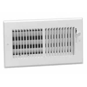 American Metal 356W10x4 10-Inch by 4-Inch White Steel Wall Diffusers with 1/3-Inch Grille Bar by...