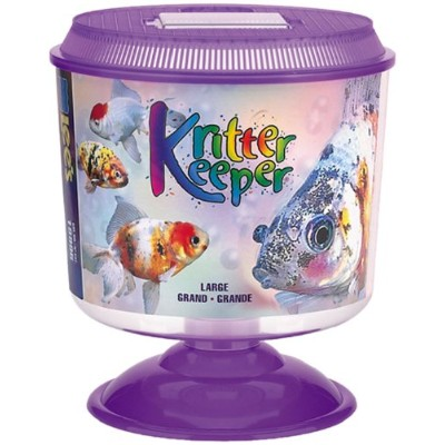 Lee's Kritter Keeper, Large Round w/Lid and Pedestal by Lee