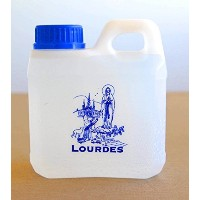 LOURDES HOLY WATER CONTAINER 0.75L (0,198 GAL) - Filled with AUTHENTIC LOURDES WATER from the...
