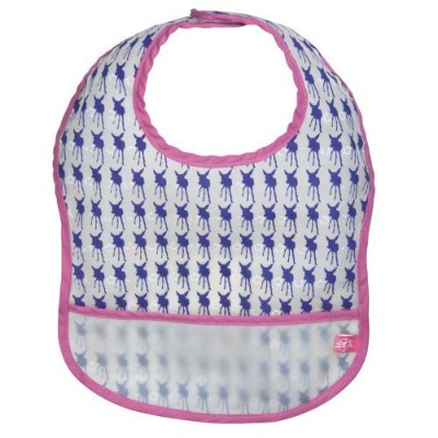 Lassig Waterproof Spill Proof Eva Bib, Viola Deer, Medium, 6-24 Months by Lassig [並行輸入品]