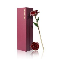 (Red) - Lantch 24K Gold Dipped Rose with Gift Box Best Gift for Valentine's Day Monther's Day...