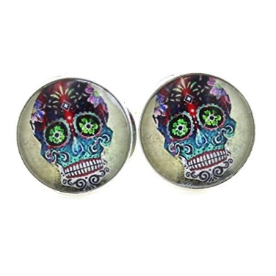 スチームパンク – Sugar skulls – Dia De Los Muertos Cufflinks – Day of the Dead – メキシコ – Sugarskull ss4