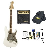 Squier / Affinity Stratocaster HSS Olympic White スクワイヤー エレキギター【10Wアンプ&小物セット】 入門 初心者