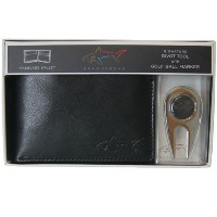 Greg Norman グレッグ・ノーマン パスケース ボールマーカー Passcase Leather Wallet with Golf Divot Tool and Ball Marker