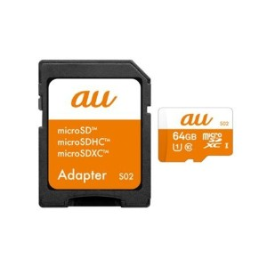 R03M004A au+1 collection microSD 64GB メモリーカード