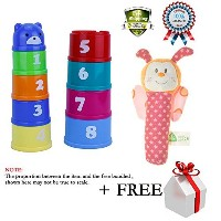 Kids Sorting Brilliant Basics StackingベビーおもちゃFoldingロールカップFigures LettersスティックRattleおもちゃPram...