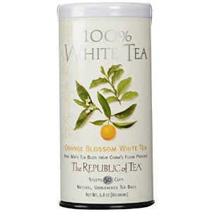 The Republic of Tea, Orange Blossom White Tea, 50-Count by The Republic of Tea