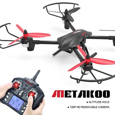 (D1New) - Metakoo D1 RC Toy Drone with 720P HD Camera, Big Outdoor/Indoor Helicopter with Carbon...