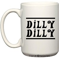 Dilly Dilly Bud LightパロディGame of Thrones Inspired面白いコーヒーマグまたはTea Cup by BeeGeeTees 15 oz ホワイト...