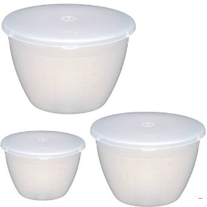 Kitchencraft Plastic Pudding Basin最大3のセット、kcpud1kcpud2kcpud3