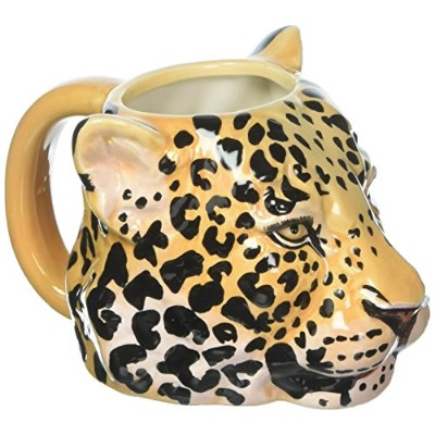Talking Tables Emporium Leopard Shaped China Mug forホーム装飾品、