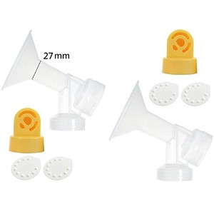 Nenesupply Pump Parts for Pump In Style Breastpump with 2 Large 27mm Breastshields 2 Valves and 4 Membranes by NeneSupply