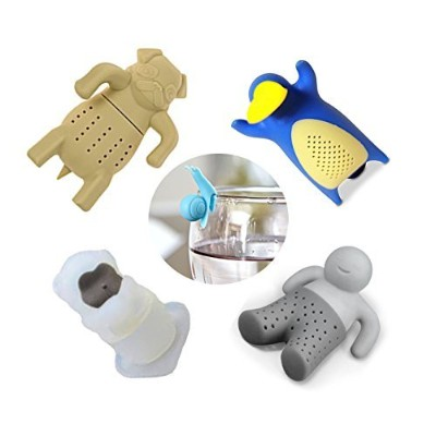 Loose Leaf Tea Infuser Set of 4 Cute Infusers withボーナスカップギフトボックスPlusマーカー