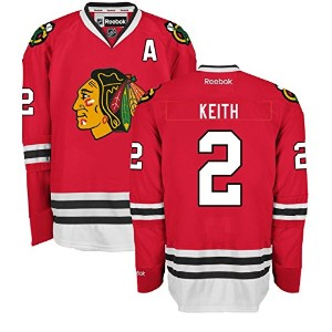 Duncan Keith Chicago BlackhawksホームレッドPremier Jersey by Reebok L