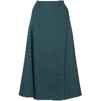 Lemaire wrap style A-line mid-length skirt - グリーン