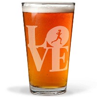 RunningランナーLove刻印Beer Pint Glass by Gone For A Run | 20オンス
