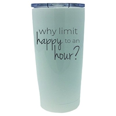 TSCパウダーコーティングWhy Limit Happy to an Hour 20oz Engravedタンブラー One Size ホワイト 690684631265