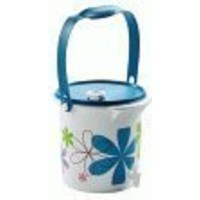 Tupperware 5Quart Canister Jug forジュース水Iced Tea in Flower Powerデザイン