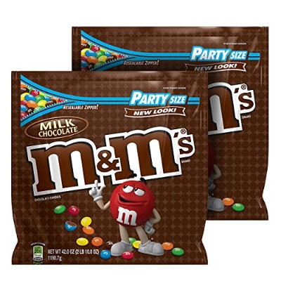 M&M'S Milk Chocolate Candy Party Size 42-Ounce Bag (Pack of 2) by M & M's
