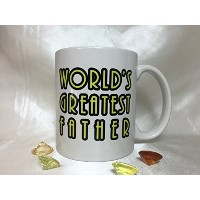 a021 World 's Greatest Fatherコーヒーマグ、ティーカップ、Present for父の日、ギフトfor Dad , Funny Mug for Dad、最高のギフト父