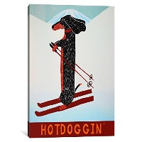 "iCanvasART 1 Piece Hotdogginキャンバスプリントby Stephen Huneck 18 by 12""/1.5"" Deep STH50-1PC6-18x12"