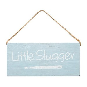"Boys Little Slugger Wooden Sign。6.5 "" X 3。」"