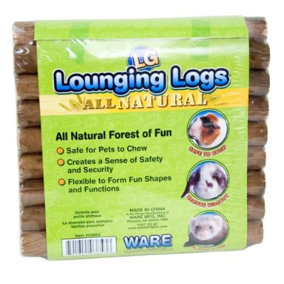 Ware Manufacturing All Natural Pine Wood Lounging Pet Logs Forest of Fun Large