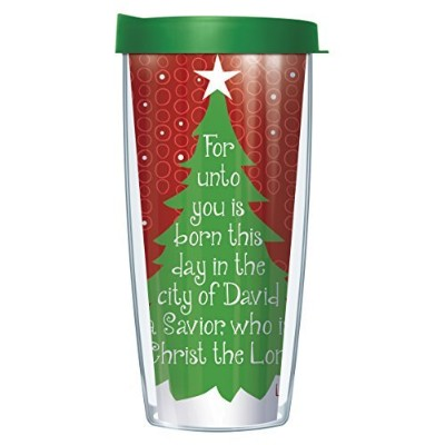 Luke 2 : 11 For unto you Saviorは生まれのタンブラーMug with Lid 16 Oz