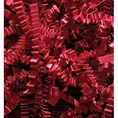 1/2 LB Crinkle Cut Paper Shred - Red by Momoka's Apron