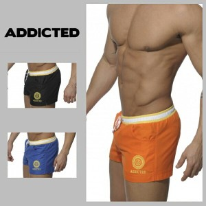 Addictedスイムトランク【Addicted】SQUARE SHORT SWIM TRUNK【ADS024】ギフトに最適!
