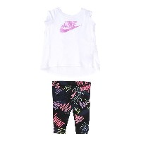 NIKE NSW TUNIC FRESH PRNT CAPRI セット ホワイト