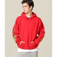 Delicious×Cook / デリシャス×Cook別注 : Fire Smile Hoodie【ジャーナルスタンダード/JOURNAL STANDARD メンズ パーカー レッド ルミネ...