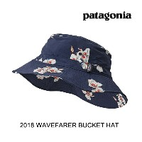 2018 PATAGONIA パタゴニア 帽子 ハット WAVEFARER BUCKET HAT MALC MARIPOSA LILY: CLASSIC NAVY