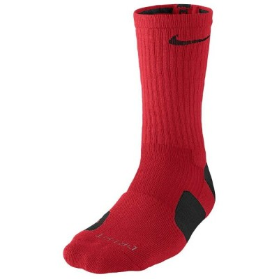ナイキ メンズ バスケットボール【Elite Basketball Crew Socks】University Red/Black