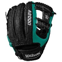 ウィルソン メンズ 野球 グローブ【A2000 RC22 Superskin Fielder's Glove】Black/Mariner's Green