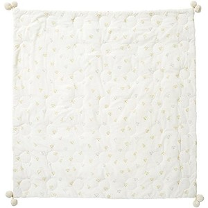 Pehr Designs Baby Chick Quilted Pom Blanket, Soft Yellow by Pehr Designs